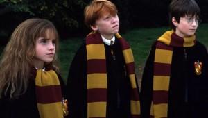 Hermione Granger, Ron Weasley y Harry Potter son los tres protagonistas de esta serie de novelas fantásticas escrita por la autora británica J. K. Rowling.
