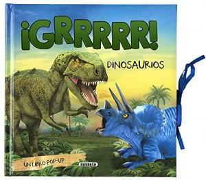 Libros de dinosaurios para niños y adultos | ¡GRRRRR! Dinosaurios (Libro pop-up) | +7 años | 18 páginas