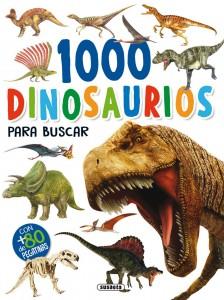 Libros de dinosaurios para niños y adultos | 1000 Dinosaurios para buscar | +4 años | 48 páginas