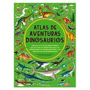 Libros de dinosaurios para niños y adultos | Atlas de aventuras dinosaurios | +8 años | 96 páginas