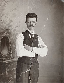 Autorretrato (1920) del fotógrafo Guillermo Kahlo, padre de Frida