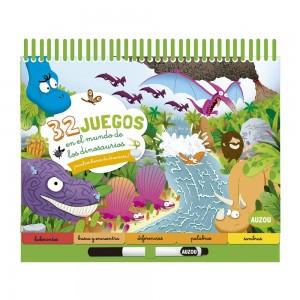 Libros de dinosaurios para niños y adultos | Busca y encuentra. 32 juegos en el país de los dinosaurios | +5 años | 50 páginas