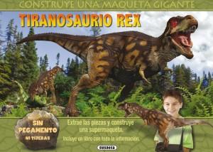 Libros de dinosaurios para niños y adultos | Construye una maqueta gigante. Tiranosaurio Rex | +8 años | 24 páginas