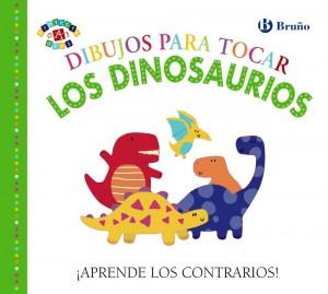 Libros de dinosaurios para niños y adultos | Dibujos para tocar. Los dinosaurios | A partir de 0 años | 16 páginas