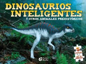Libros de dinosaurios para niños y adultos | Dino Puzles. Dinosaurios inteligentes. 5 puzles de 35 piezas | +8 años | 10 páginas