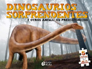 Libros de dinosaurios para niños y adultos | Dino Puzles. Dinosaurios sorprendentes. 5 puzles de 35 piezas | +8 años | +10 páginas