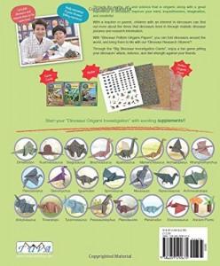Libros de dinosaurios para niños y adultos | Dinosaur Origami Adventure with Dr. Dinosaur | +7 años | 128 páginas | Libro en inglés