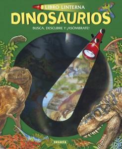 Libros de dinosaurios para niños y adultos | Dinosaurios (Libro linterna) | +5 años | 12 páginas