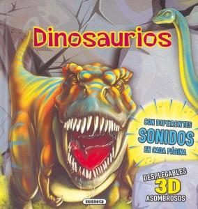 Libros de dinosaurios para niños y adultos | Dinosaurios (con diferentes sonidos en cada página) | +3 años | 12 páginas