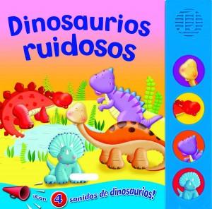 Libros de dinosaurios para niños y adultos | Dinosaurios ruidosos | +3 años | 10 páginas