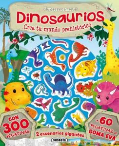 Libros de dinosaurios para niños y adultos | Dinosaurios. Crea tu mundo prehistórico | +3 años | 10 páginas