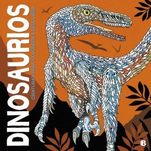 Libros de dinosaurios para niños y adultos | Dinosaurios. Criaturas para colorear y descubrir | +7 años | 64 páginas