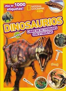 Libros de dinosaurios para niños y adultos | Dinosaurios. Libro de actividades con etiquetas | +5 años | 40 páginas