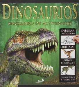 Libros de dinosaurios para niños y adultos | Dinosaurios. Megalibro de actividades | +7 años | 152 páginas
