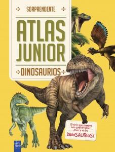 Libros de dinosaurios para niños y adultos | Dinosaurios. Sorprendente Atlas Junior | +7 años | 40 páginas