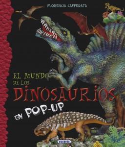 Libros de dinosaurios para niños y adultos | El mundo de los dinosaurios en pop-up | +6 años | 8 páginas