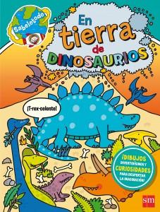 Libros de dinosaurios para niños y adultos | En tierra de dinosaurios | +6 años | 24 páginas