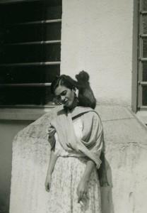 Frida con su mono Fulang Chang