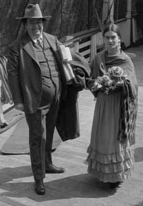 Frida vio por primera vez a Diego en 1922.