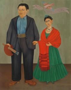 Frida y Diego Rivera | 1931 | Óleo sobre lienzo. 100 x 79 cm. | Museo de Arte Moderno de San Francisco, EEUU.