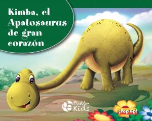 Libros de dinosaurios para niños y adultos | Kimba, el Apatosaurus de gran corazón (libro pop-up) | +3 años | 8 páginas