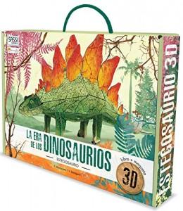 Libros de dinosaurios para niños y adultos | La era de los dinosaurios. Estegosaurio 3D | +6 años | 32 páginas