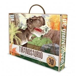 Libros de dinosaurios para niños y adultos | La era de los dinosaurios. Tiranosaurio 3D | +6 años | 32 páginas