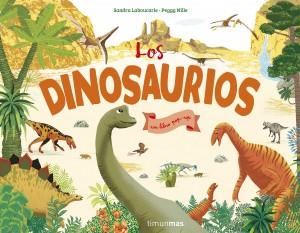 Libros de dinosaurios para niños y adultos | Los dinosaurios (Libro con solapas y lengüetas) | +3 años | 20 páginas