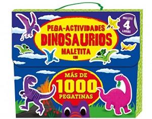 Libros de dinosaurios para niños y adultos | Pega-actividades dinosaurios (más de 1.000 pegatinas) | +6 años | 16 páginas