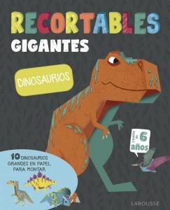 Libros de dinosaurios para niños y adultos | Recortables gigantes. Dinosaurios | +6 años | 44 páginas