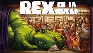 Libros de dinosaurios para niños y adultos | Rex en la ciudad | +8 años | 40 páginas