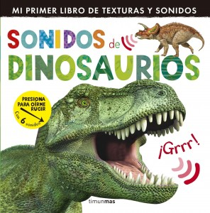 Libros de dinosaurios para niños y adultos | Sonidos de dinosaurios | +1 año | 12 páginas