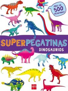 Libros de dinosaurios para niños y adultos | Superpegatinas Dinosaurios | +3 años | 24 páginas
