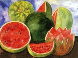 Viva la vida | 1954 | Óleo sobre masonita. 52 x 72 cm. | Museo Frida Kahlo, Coyoacán, México.
