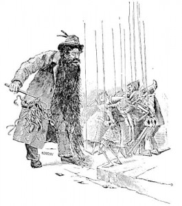 """Ilustración de """"Las Aventuras de Pinocho"""" original de Carlo Chiostri."""