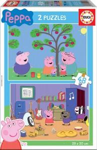 Juguetes y cuentos de Peppa Pig | 2 puzzles de Peppa Pig | De 3 a 6 años