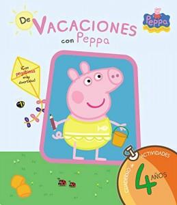 Juguetes y cuentos de Peppa Pig | De vacaciones con Peppa - 4 años. Cuaderno de actividades con pegatinas | A partir de 4 años | 54 páginas