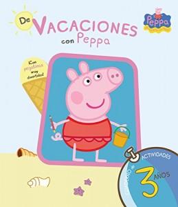 Juguetes y cuentos de Peppa Pig | De vacaciones con Peppa - 3 años. Cuaderno de actividades con pegatinas | A partir de 3 años | 48 páginas