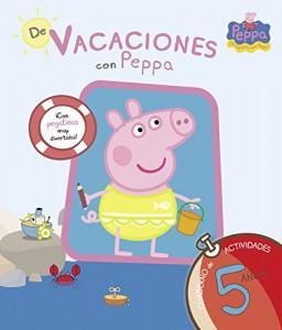 Juguetes y cuentos de Peppa Pig | De vacaciones con Peppa - 5 años. Cuaderno de actividades con pegatinas | A partir de 5 años | 64 páginas