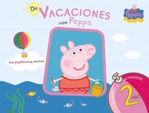 Juguetes y cuentos de Peppa Pig | De vacaciones con Peppa - 2 años. Cuaderno de actividades con pegatinas | A partir de 2 años | 48 páginas