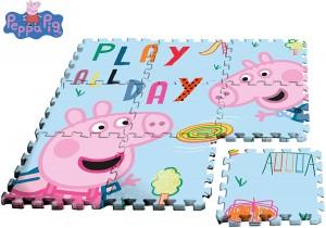 Juguetes y cuentos de Peppa Pig | Alfombra-Puzzle para suelo | A partir de 0 años