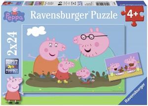 Juguetes y cuentos de Peppa Pig | Dos puzzles de 24 piezas cada uno | A partir de 4 años