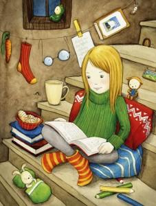 Cómo mejorar la comprensión lectora en niños de primaria | Ilustración de Martina Hoffmann