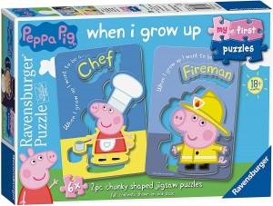 Juguetes y cuentos de Peppa Pig | Mis primeros rompecabezas de Peppa Pig | A partir de 18 meses
