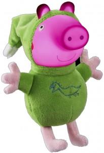 Juguetes y cuentos de Peppa Pig | Peluche con luz Glow Friends (George) | A partir de 18 meses