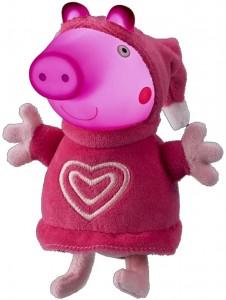 Juguetes y cuentos de Peppa Pig | Peluche con luz Glow Friends (Peppa) | A partir de 18 meses