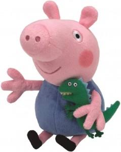 Juguetes y cuentos de Peppa Pig | Peluche de George con dinosaurio | A partir de 3 años