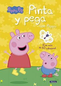 Juguetes y cuentos de Peppa Pig | Pinta y pega con Peppa | A partir de 4 años | 16 páginas