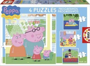 Juguetes y cuentos de Peppa Pig | Puzzles progresivos Peppa Pig | De 3 a 5 años