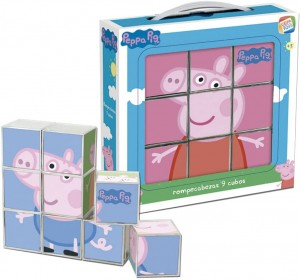 Juguetes y cuentos de Peppa Pig | Rompecabezas de 9 cubos | A partir de 3 años